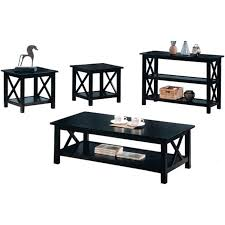 3 piece black coffee table sets black wood coffee table set steal a sofa furniture outlet los