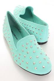 canvas fabric spike studded loafer flats amiclubwear flats shoes