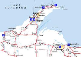 peninsula michigan map michigan road map michigan map