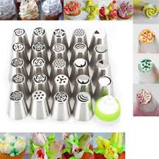flower decorating tips 24pc russian tulip flower icing piping nozzles cake decoration