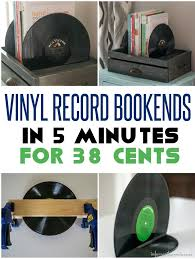 38 cents and only 5 minute vinyl record bookends infarrantly