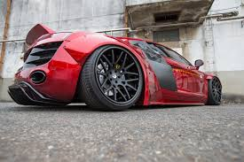 red audi r8 wallpaper liberty walk dresses up first gen audi r8