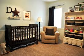 Two Tone Living Room Walls by Baby Room With Two Tone Wall Colors And Black Crib Elegant And