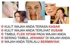 jual masker alami spirulina untuk wajah kering berminyak dan