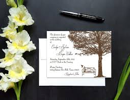 Wedding Invite Card Stock Minimalist Tree And Bench Fall Wedding Invitation U2022 You U0027re Invited