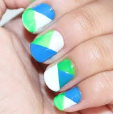 color block nails tutorial u0027vanessa jhoy blog