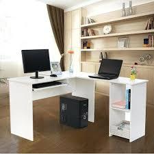 bureau informatique blanc laqué rocambolesk superbe bureau informatique blanc avec tablette