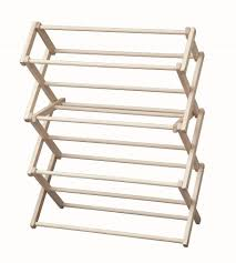 Folding Clothes Dryer Rack Amazon Com Laundry Drying Rack Collapsible Wood Garment Dryer