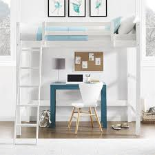 dorel living your zone loft bed white
