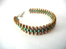 woven bracelet with beads images Bronze bracelet turquoise bracelet seed bead bracelet bronze jpg