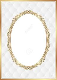 white background with gold ornaments and transparent space insert