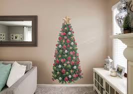christmas tree wall decal shop fathead for christmas decor