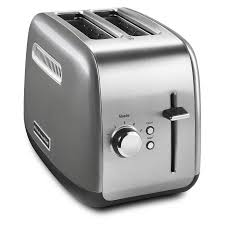 White Toaster 2 Slice Kitchenaid 2 Slice Toaster With Manual Lift Lever Contour Silver