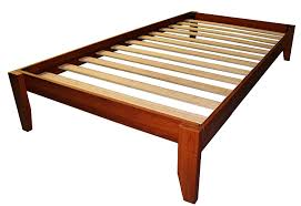 amazon com stockholm solid wood bamboo platform bed frame twin