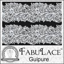 fabulace guipure cake lace silicone mat photofrost