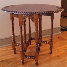 Leather Top Coffee Table Baker Vintage 1940s Mahogany Leather Top Round Revolving Regency
