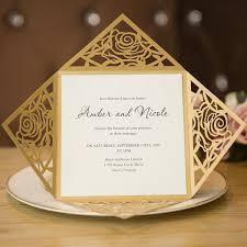 wedding invitation card unique gold laser cut wedding invitation cards swws005