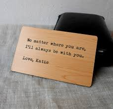engraved wooden gifts wallet insert card custom wallet insert personalized
