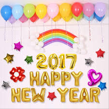 new year party supplies new 16 inch silver gold happy new year 2017 foil balloons party
