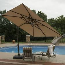 patio oversized patio umbrellas light brown square modern fabric