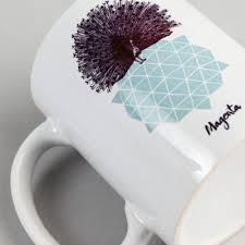 magenta peacock mug multi flatspot