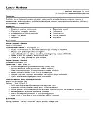 Moving Resume Sample by Impressive Resume Sample For Heavy Equipment Operator Job With