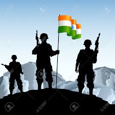 Soldiers Lifting Flag Men Holding Up Flag Clipart