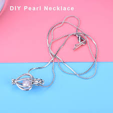love pearl necklace images Love pearl wish pearl necklace set oyster can opening cage drop JPG