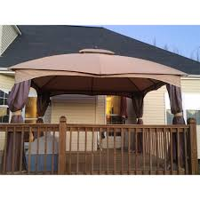 Allen And Roth Curtains Allen Roth Dome 10x12 Replacement Canopy And Netting Garden Winds