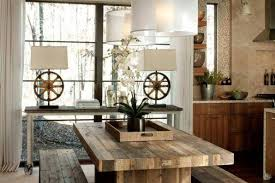 Rustic Modern Dining Room Refreshed Unique Table Lamps Tags At Home Lighting Rustic Dining