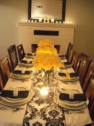 black white and yellow anniversary party party decorations