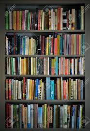 bookshelves loaded with books stock photo picture and royalty
