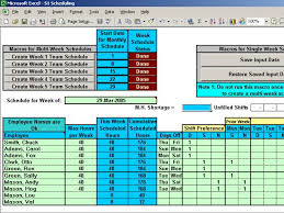 Schedule Spreadsheet Excel Automatically Schedule Your Employees To 3 Shifts With Excel