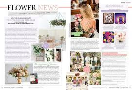 wedding flowers and accessories magazine lb floral featured in wedding flowers and accessories magazine