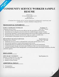 Example Of Social Work Resume by Community Service Worker Resume Sample Http Resumecompanion Com