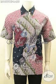desain baju batik halus hem batik solo halus lengan pendek size l busana batik modis desain