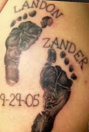names and baby footprints tattoos tattooshunt com