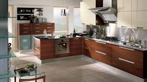 wonderful brown kitchen design with eco friendly kitchen cabinet