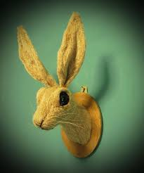 Rabbit Home Decor Faux Taxidermy Hare Animal Head Jack Rabbit Mounted Trophy