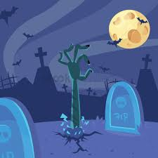 graveyard clipart zombie hand emerging from a graveyard vector image 1935001