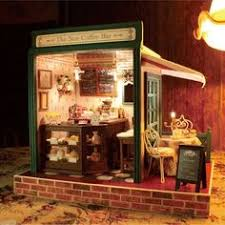 Sweet Coffee Shop France Style Diy Doll House 3d Miniature Coffee Time With Friends Coffee Time Bjd And Artwork