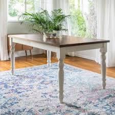 White Extending Dining Tables Homesullivan Margot Antique White And Oak Extendable Dining Table