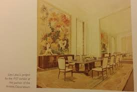 dining room artwork jules leleu dining room table u0026 chairs 1937 paris exhibition