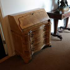 bureau of met notenhouten bureau met klep de kling