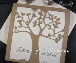 Folded Invitation Card Aliexpress Com Buy 50pcs Free Shipping Laser Cutting Simple