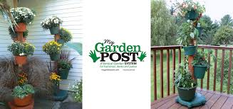 combination large small post garden planters my garden post