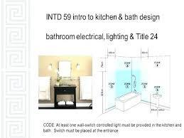 bathroom lighting code requirements title 24 bathroom lighting kitchen requirements worksheet full image