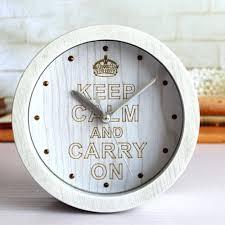 retro style desk clock alarm with second war inspiration poster rivet silver pointers roundretro clocks australia
