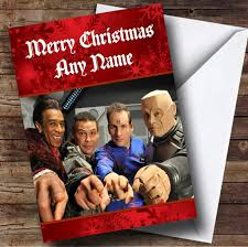 red dwarf personalised christmas card the card zoo
