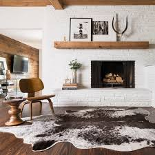 Black And White Rug Overstock Faux Rawhide Ivory And Charcoal Brown Rug 6 U00272 X 8 U0027 Free